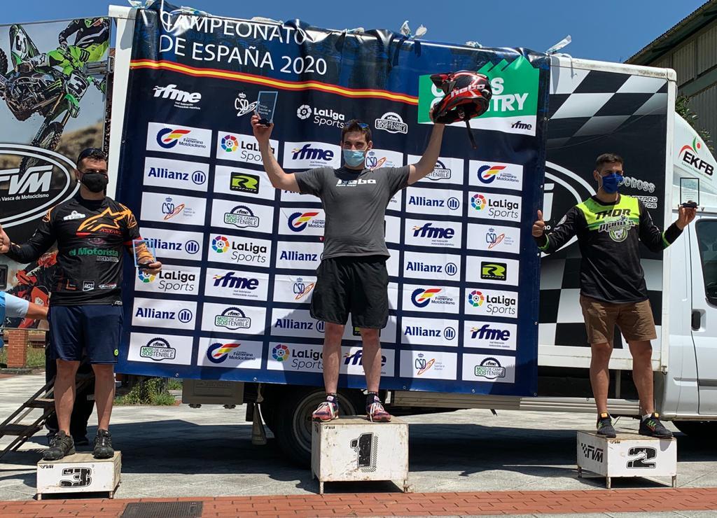 Marc Calmet en la primera posició de la seva categoria.